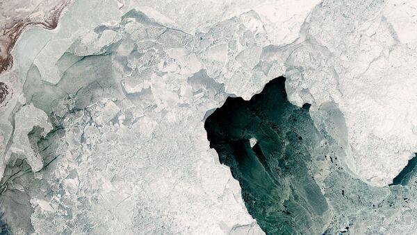 Разнообразие типов льда, которые могут образовываться в северной части Каспийского моря - Sputnik Латвия