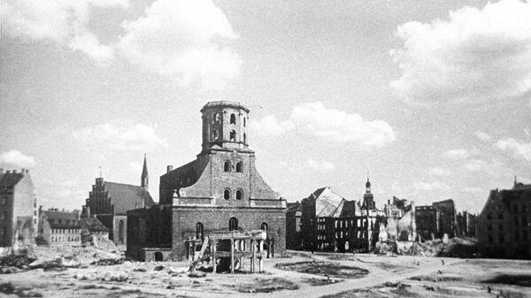 Rīga pēc vācu fašistu karaspēku atkāpšanās, 1944. gada oktobris - Sputnik Latvija