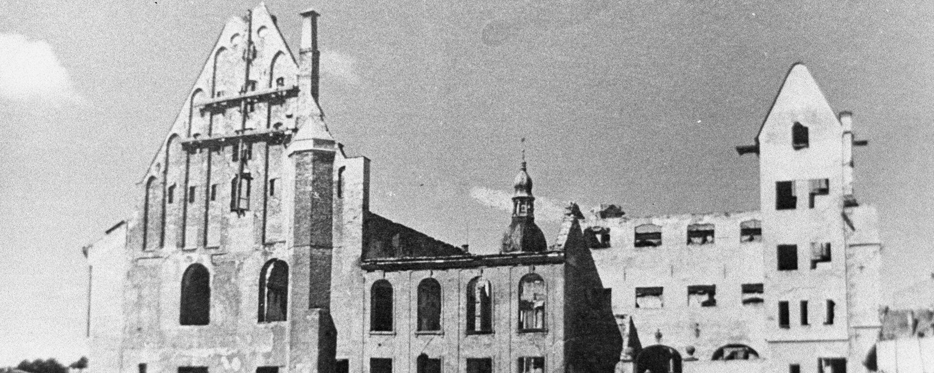 Дом Черноголовых сгорел в Риге 28 июня 1941 года в ходе военных действий - Sputnik Латвия, 1920, 21.06.2021