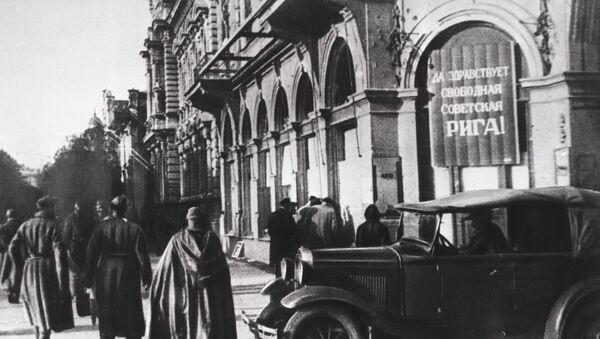 Советские солдаты в Риге, октябрь 1944 года - Sputnik Латвия