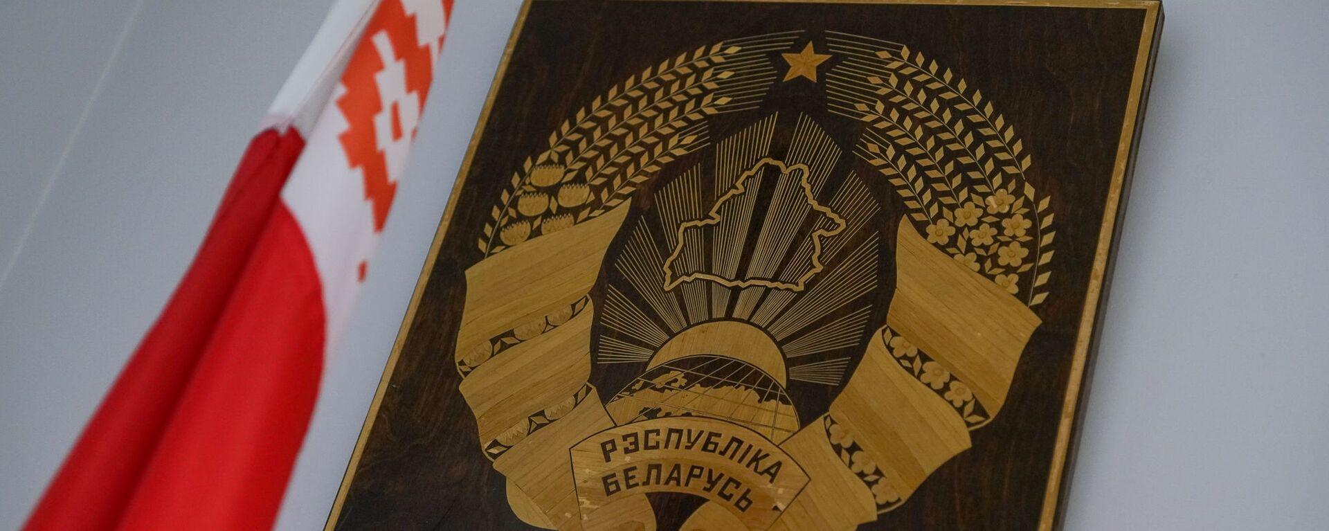 Флаг и герб Республики Беларусь - Sputnik Латвия, 1920, 28.06.2021