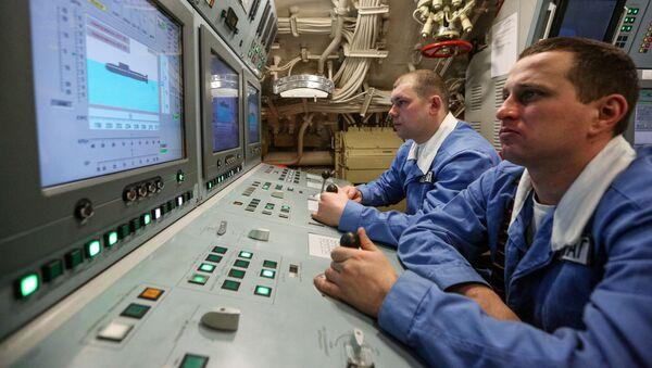 Центральный пост атомной подводной лодки К-535 Юрий Долгорукий - Sputnik Latvija