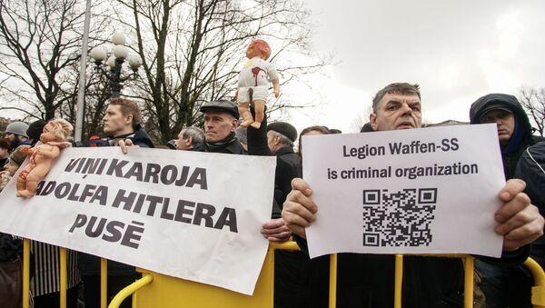 Шествие легионеров в Риге 16 марта 2019 - Sputnik Latvija