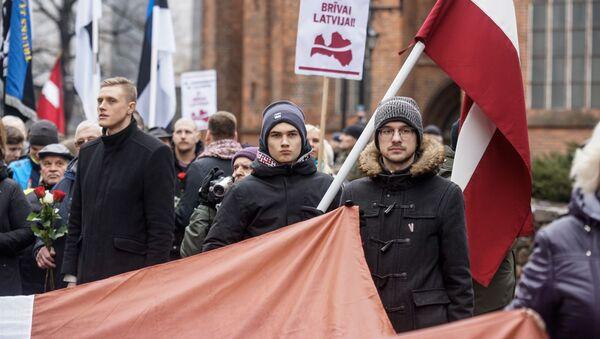 Шествие легионеров в Риге 16 марта 2019 - Sputnik Латвия