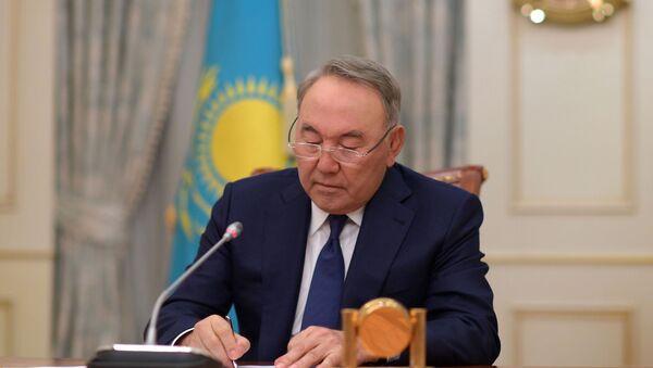Нурсултан Назарбаев в ходе телеобращения сообщил о своей отставке - Sputnik Латвия