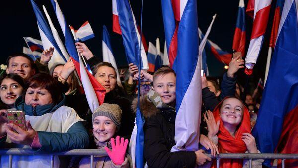 Концерт в честь 5-летия воссоединения Крыма с Россией - Sputnik Latvija