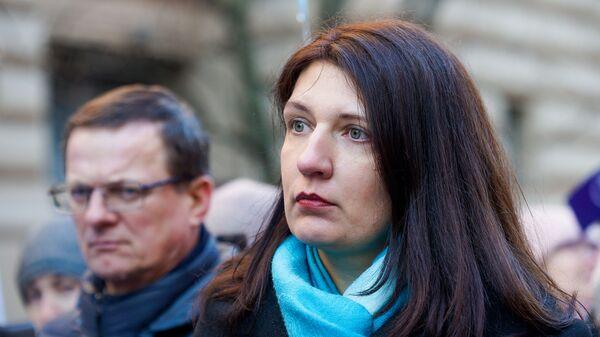 Председатель Латвийского профсоюза работников образования и науки Инга Ванага - Sputnik Latvija