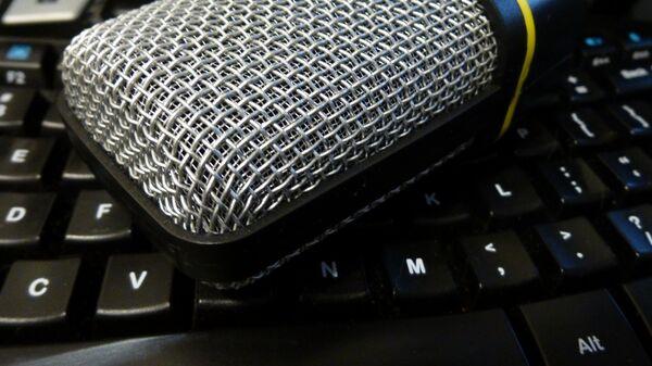 Микрофон на клавиатуре - Sputnik Латвия
