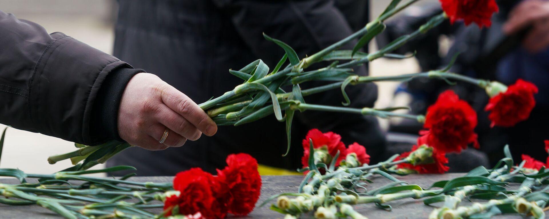 В Саласпилсе в День освобождения узников нацистских концлагерей, 11 апреля 2019 - Sputnik Латвия, 1920, 02.04.2021