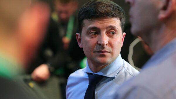 Кандидат в президенты Украины, актер Владимир Зеленский - Sputnik Латвия
