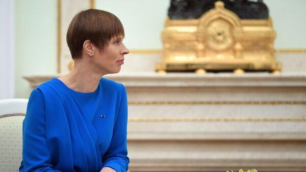 Президент РФ В. Путин встретился с президентом Эстонии К. Кальюлайд - Sputnik Latvija