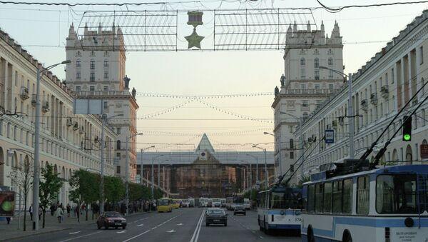Железнодорожный вокзал в Минске - Sputnik Латвия