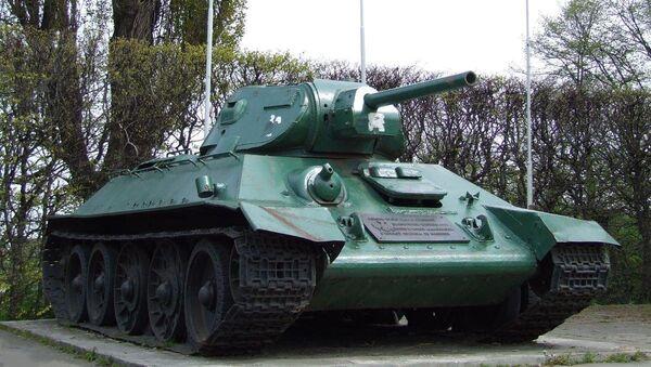 Танк-памятник Второй мировой войны в Гданьске, Польша - Sputnik Latvija