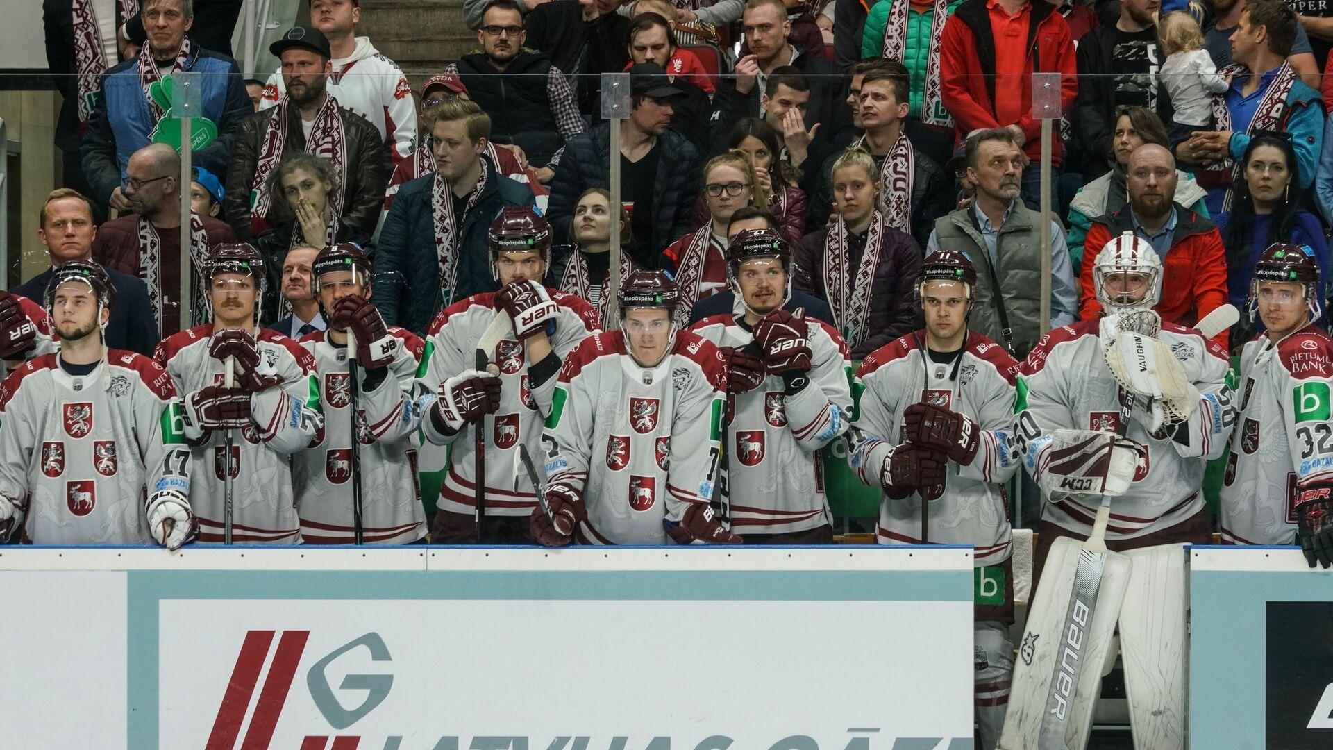 Контрольный матч по хоккею между сборными Латвии и России в Риге 24 апреля - Sputnik Латвия, 1920, 16.05.2021