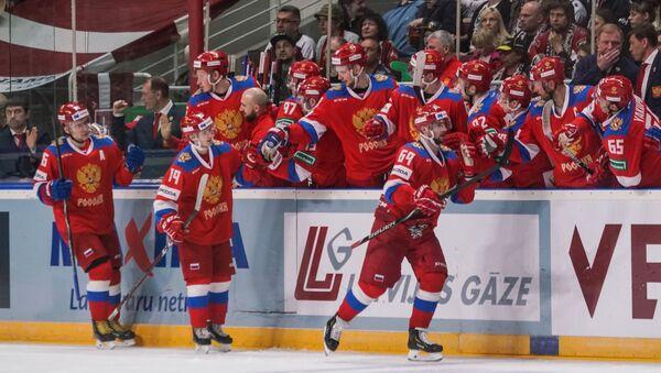 Контрольный матч по хоккею между сборными Латвии и России в Риге 24 апреля - Sputnik Латвия