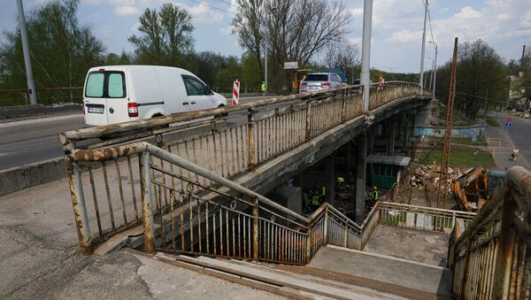 Ремонтные работы на Брасовском мосту в Риге - Sputnik Latvija