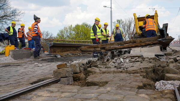 Ремонтные работы на Брасовском мосту в Риге - Sputnik Латвия