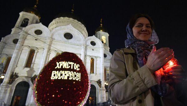 Пасхальное богослужение в храме Христа Спасителя - Sputnik Latvija