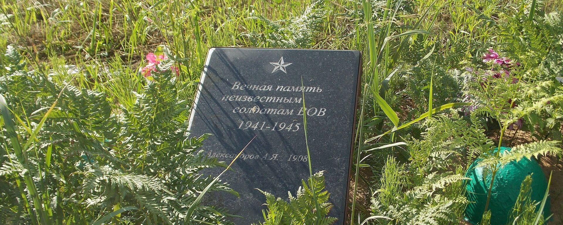 Братская могила советских воинов, партизан и жертв фашизма в окрестностях деревни Жестяная Горка - Sputnik Latvija, 1920, 23.03.2021