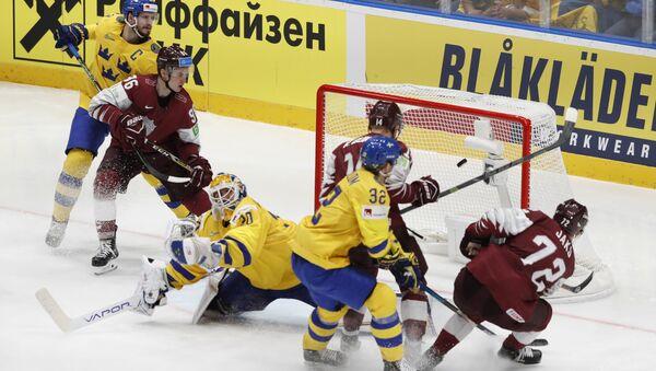 Матч Швеция-Латвия чемпионата мира по хоккею. 20 мая 2019 г. - Sputnik Латвия