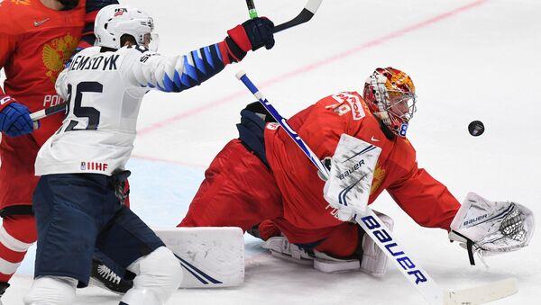 Хоккей. Чемпионат мира. Матч Россия - США - Sputnik Латвия