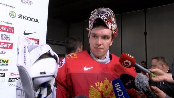 Игроки сборной России по хоккею прокомментировали матч с США - Sputnik Латвия