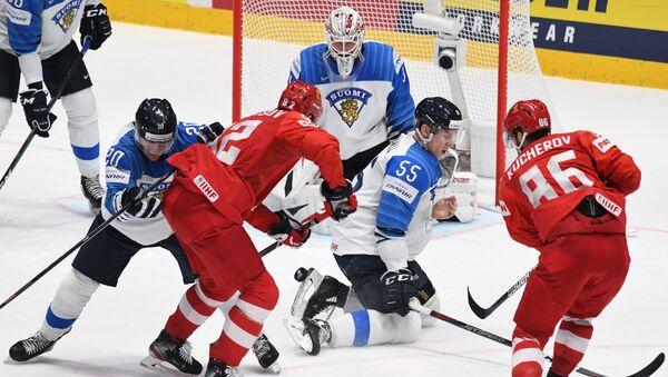 Хоккей. Чемпионат мира. Матч Россия - Финляндия - Sputnik Латвия