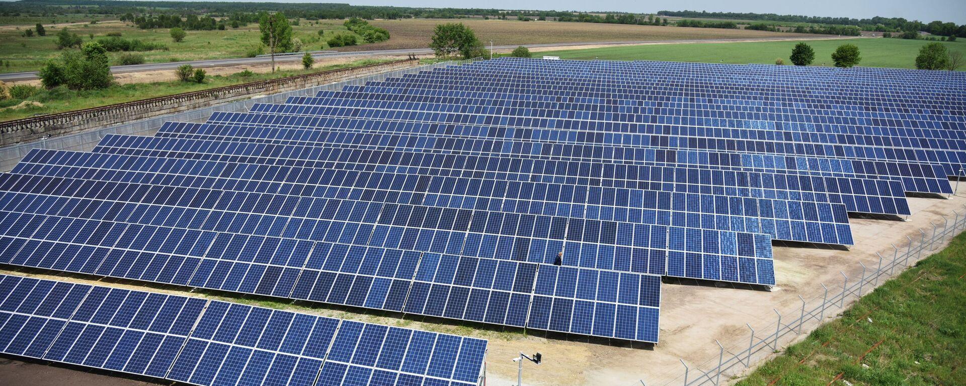 Открытие солнечной электростанции во Львовской области - Sputnik Latvija, 1920, 06.10.2021