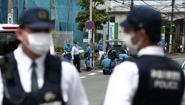 Полицейские на месте происшествия в Кавасаки - Sputnik Latvija