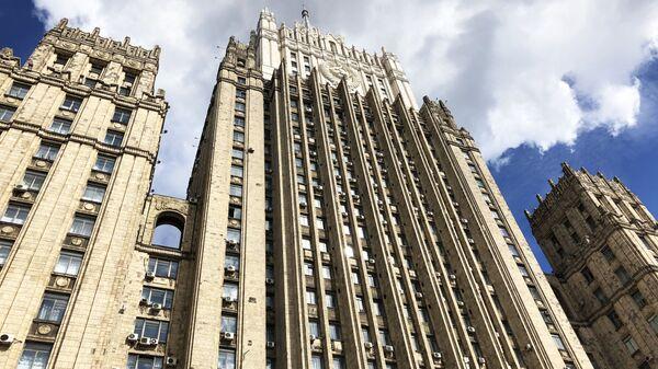 Здание министерства иностранных дел РФ на Смоленской-Сенной площади в Москве - Sputnik Latvija