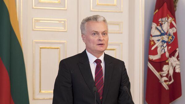 Избранный президент Литвы Гитанас Науседа - Sputnik Latvija
