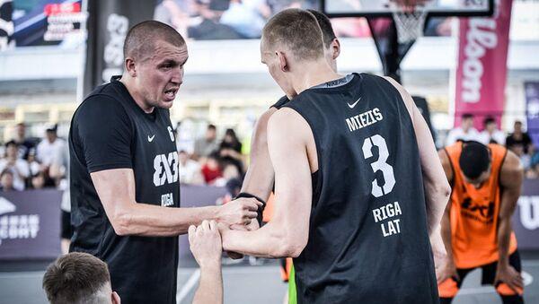 Riga Ghetto Basket на этапе мирового тура по баскетболу 3x3 в китайском Чэнду - Sputnik Латвия