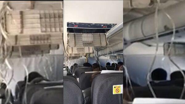 Пассажир снял на видео нештатную ситуацию на рейсе Москва - Берлин - Sputnik Latvija
