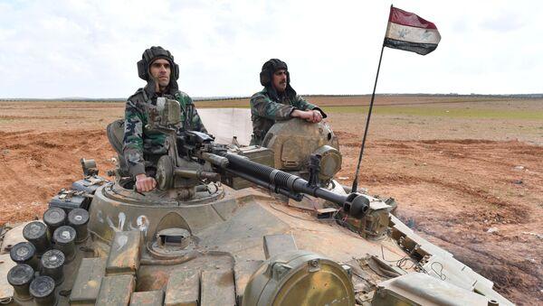 Передовые позиции сирийской армии в районе Алеппо - Sputnik Латвия