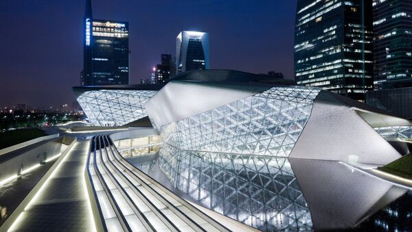 Здание оперного театра в Гуанчжоу, КНР - Sputnik Латвия