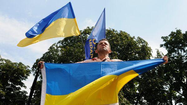 Митинг у здания Верховной Рады в Киеве - Sputnik Латвия