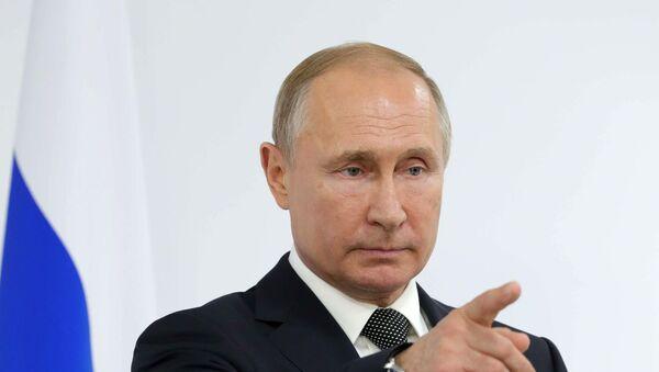 Президент РФ Владимир Путин на пресс-конференции по итогам саммита Группы двадцати  - Sputnik Latvija