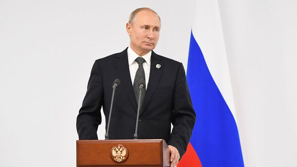 Путин рассказывает о переговорах с Трампом на G20 - Sputnik Latvija