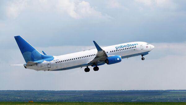 Самолет Boeing 737-800 авиакомпании Победа  - Sputnik Латвия