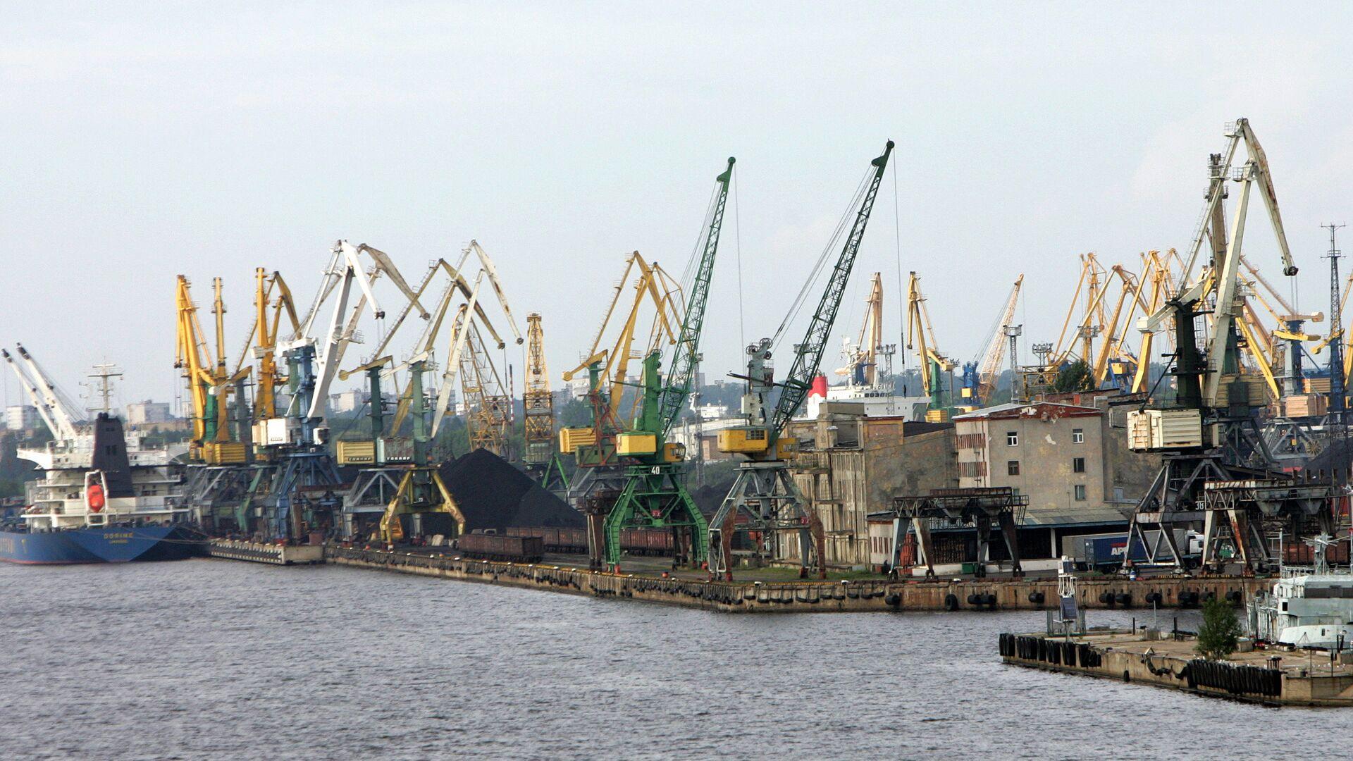 Порт в Риге - Sputnik Latvija, 1920, 01.04.2021