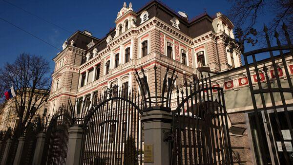 Здание Российского посольства в Латвии в Риге - Sputnik Latvija