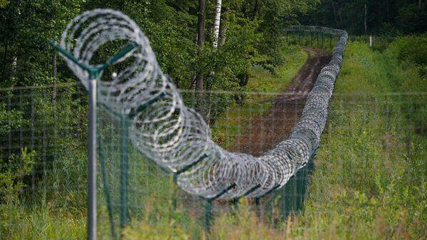 Забор на границе Латвии и России - Sputnik Латвия