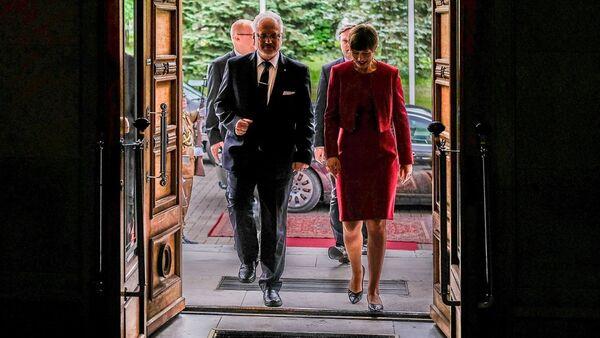 Президент Латвии Эгилс Левитс и президент Эстонии Керсти Кальюлай - Sputnik Латвия
