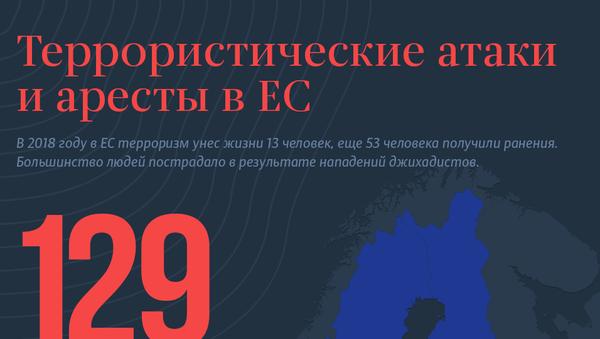 Террористические атаки и аресты в ЕС - Sputnik Латвия