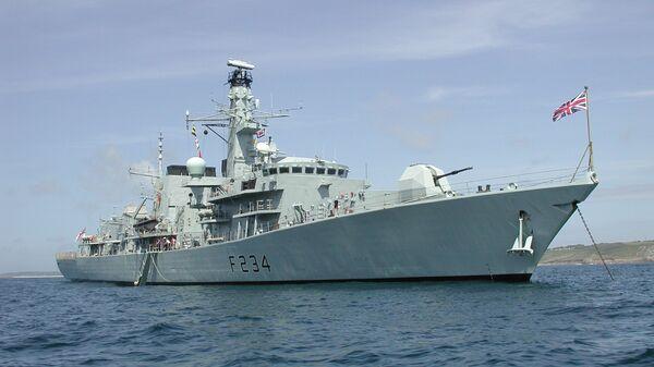 Британский фрегат  Iron Duke. - Sputnik Latvija