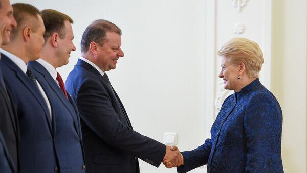 Президент Литвы Даля Грибаускайте встретилась с правительством, 10 июля 2019 - Sputnik Latvija