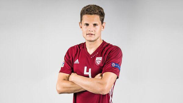 Защитник сборной Латвии по футболу Каспарс Дубра - Sputnik Латвия
