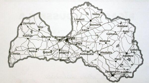 Карта Латвии - Sputnik Латвия