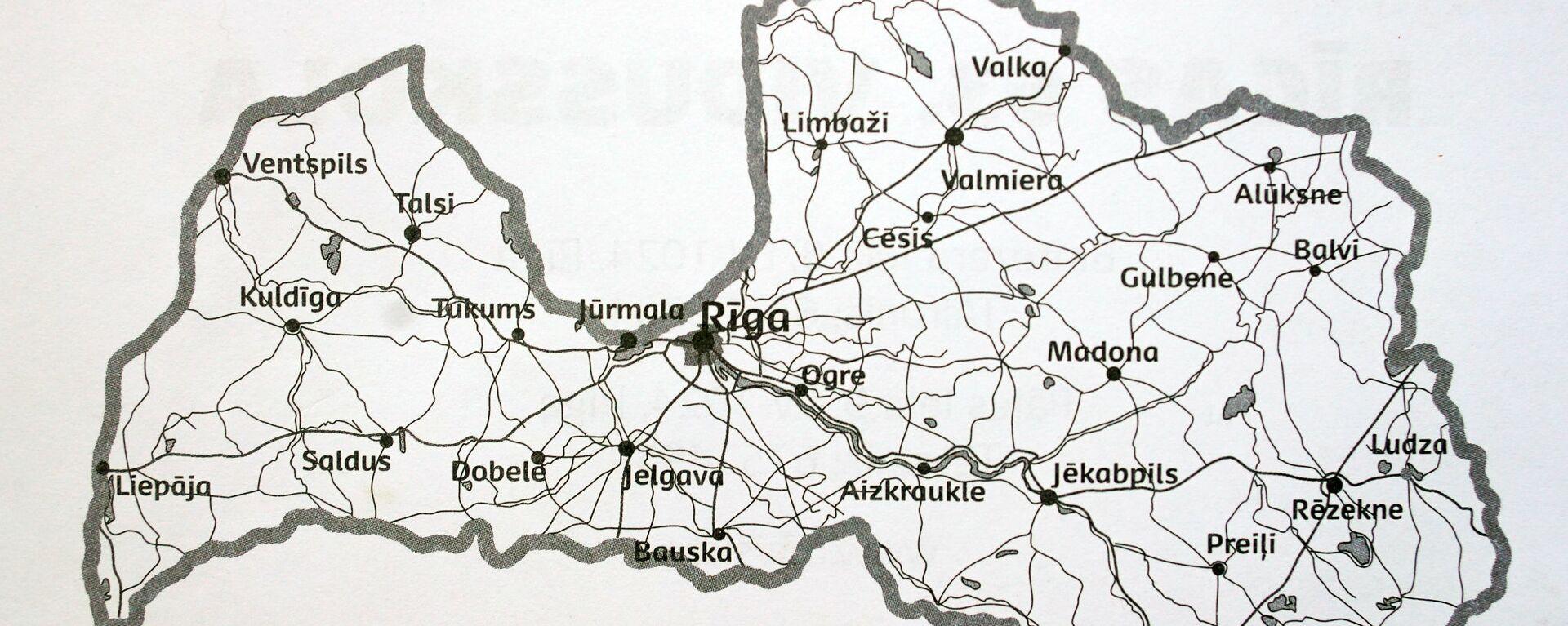 Карта Латвии - Sputnik Латвия, 1920, 01.07.2021