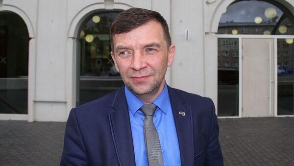 Руководитель Нарвского энергопрофсоюза Андрей Зайцев - Sputnik Latvija
